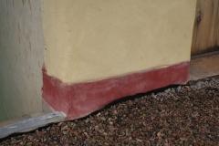 Revoque Amarillo y Cemento Lustrado Rojo